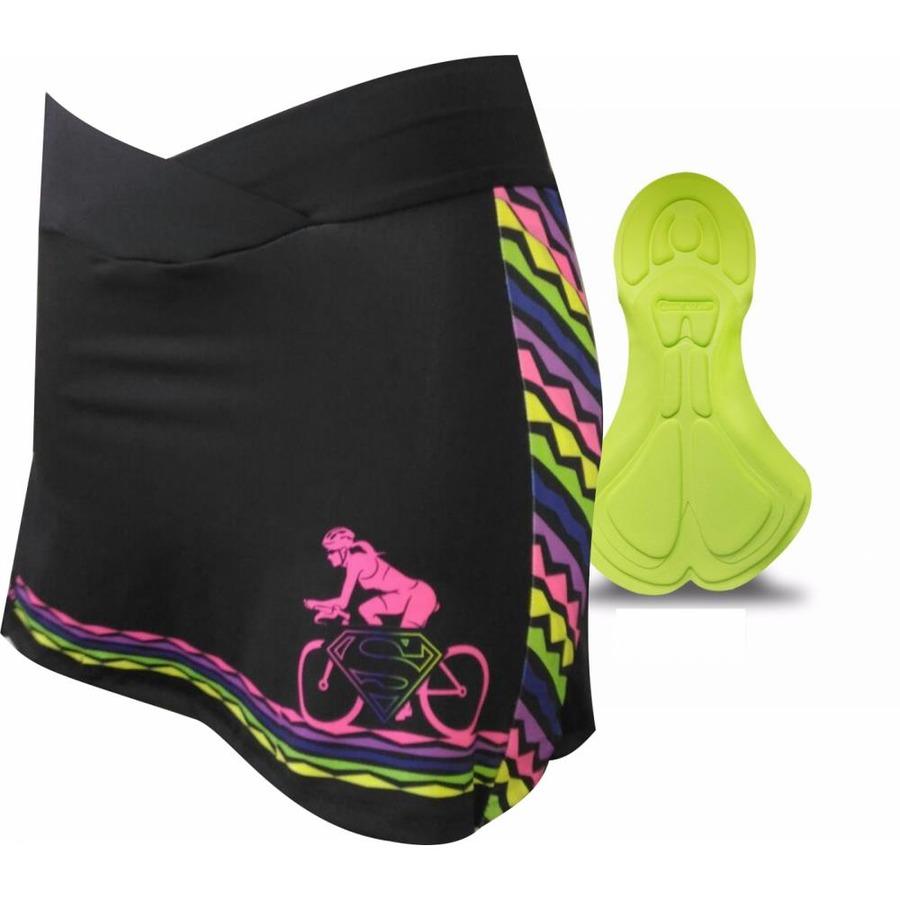 Short Saia de Ciclismo Invicto Super Girl - Feminina 35a73d9eb3e88