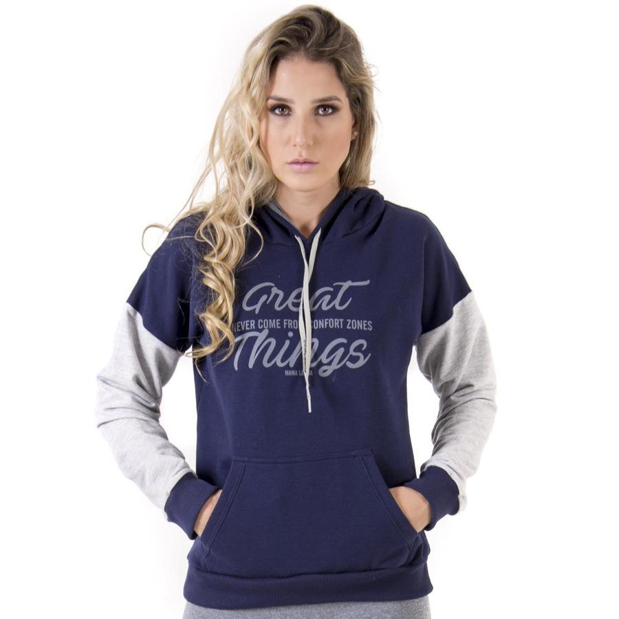 90b30986f Blusa de Moleton com Capuz Mama Latina Confort Zones - Feminina