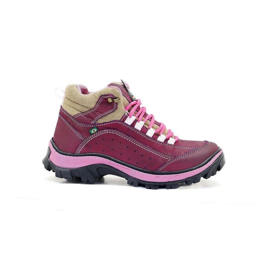 bb763bdc80924 Bota Adventure Atron Shoes em Couro Nobuck 19AS2 - Feminino