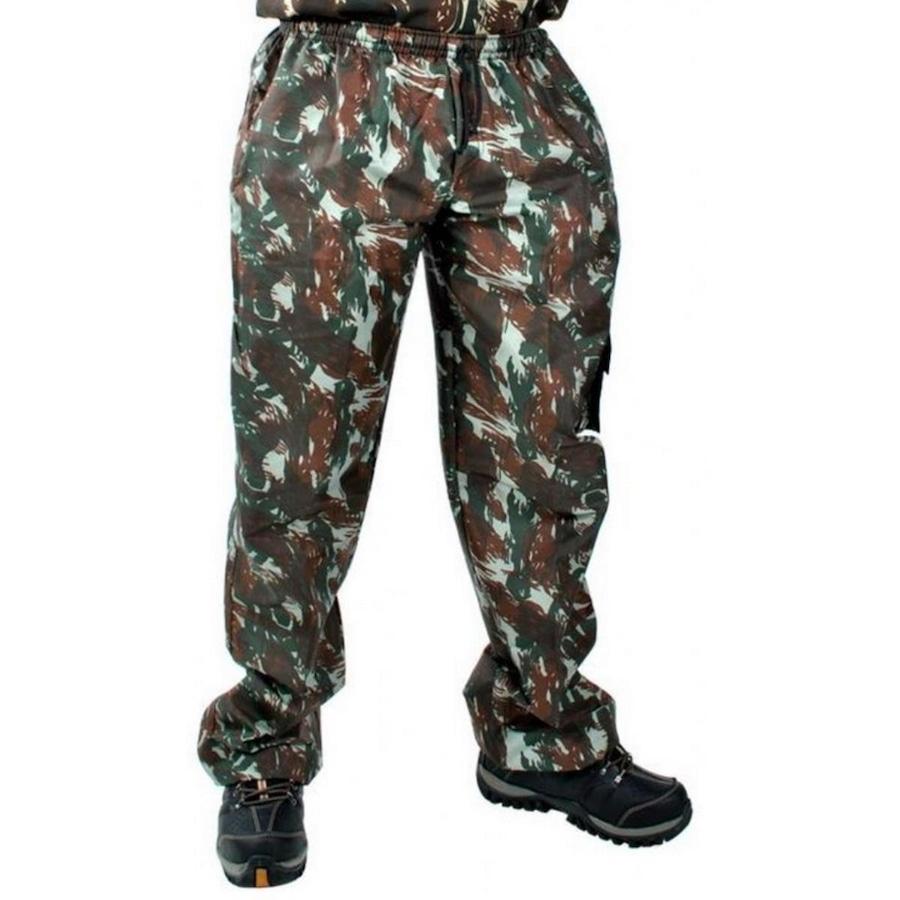 9d54be033a Calça Camuflada Leoni Pires Militar com Elástico - Masculina