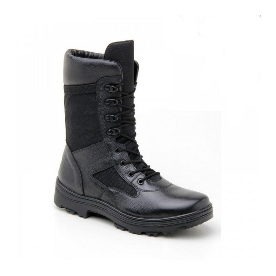 f398dfdb8e Bota Coturno Militar Cano Alto Atron Shoes em Couro e Lona 284 - Adulto
