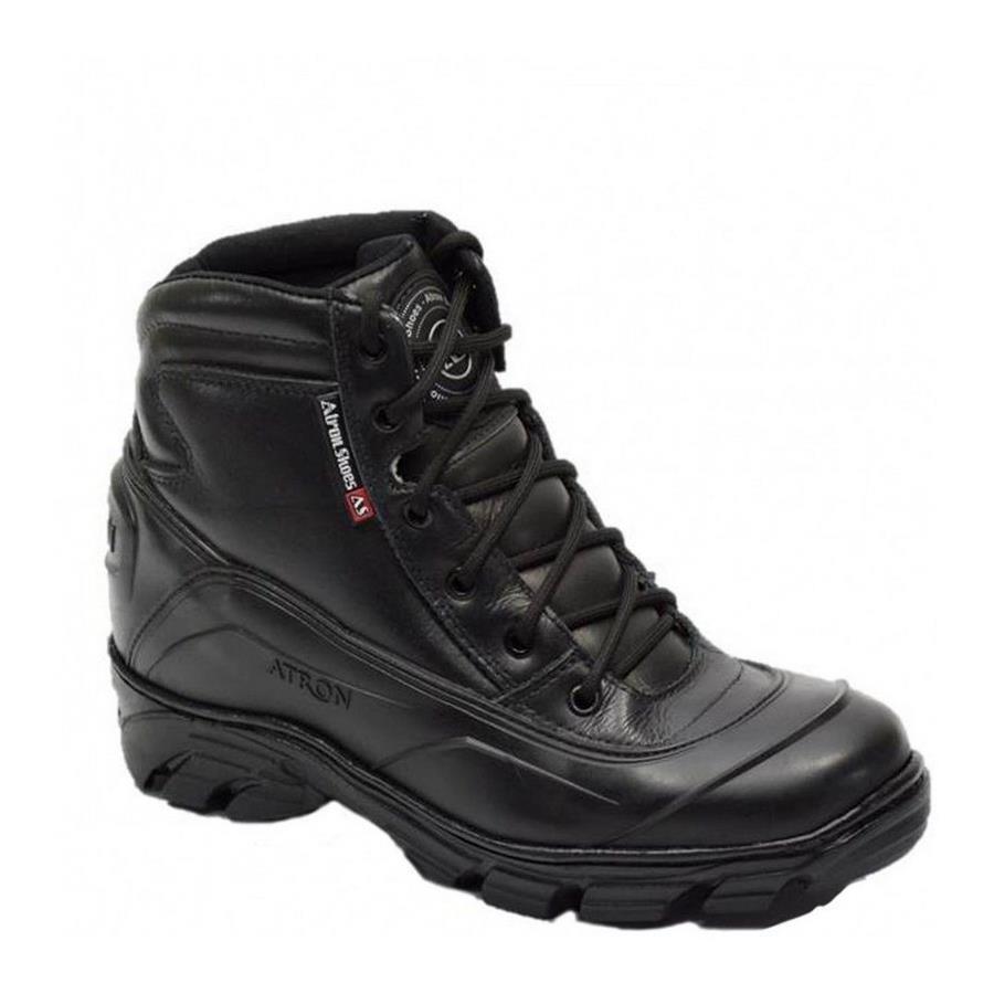 66d6b93cdadf2 Bota Motociclista Militar Atron Shoes Semi-impermeável Cano Baixo Couro -  Masculina