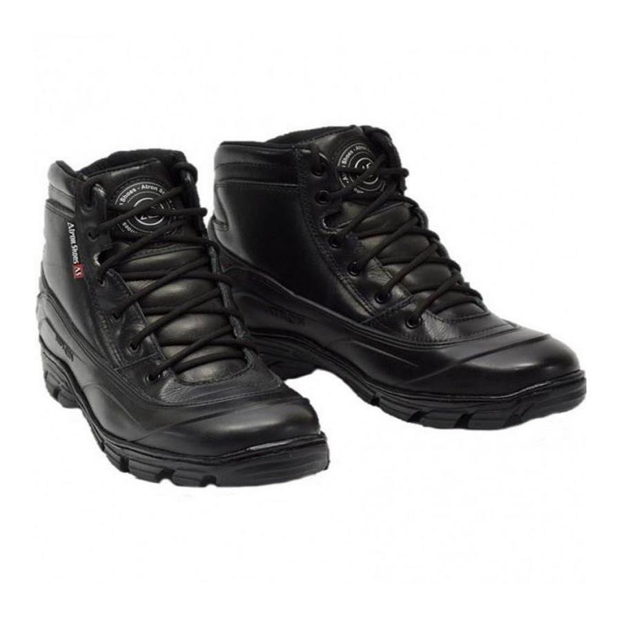 0b2f7899d7e Bota Motociclista Militar Atron Shoes Semi-impermeável Cano Baixo Couro -  Masculina