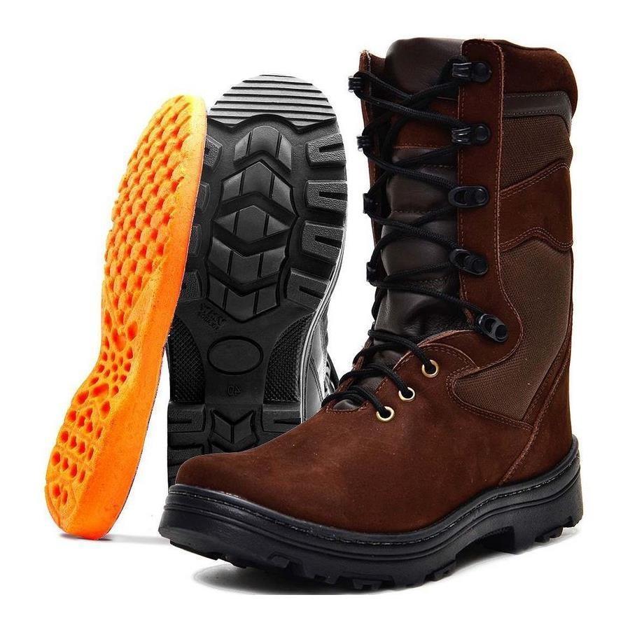 3a4eb256a Bota Coturno Cano Médio Atron Shoes em Couro e Palmilha Gel - Masculina