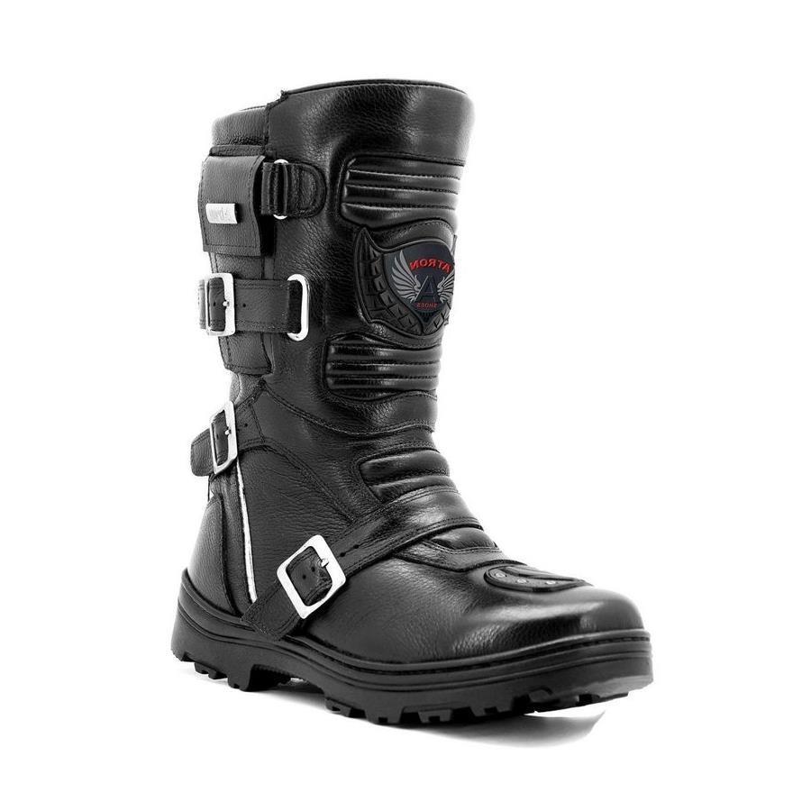 afceac861edc6 Bota Motociclista Atron Shoes On-Road Adventure Couro 296 - Masculina