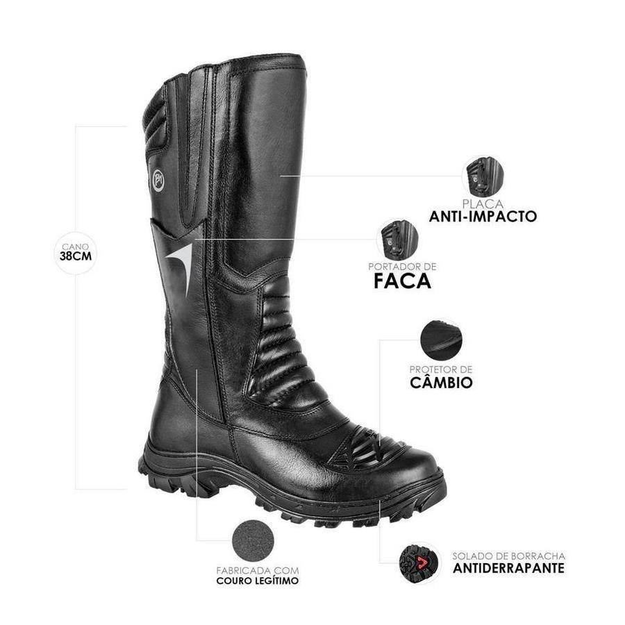 1a8b458f102 Bota Cano Alto Coturno Militar BM Brasil Porta Facas 5194BM - Masculina