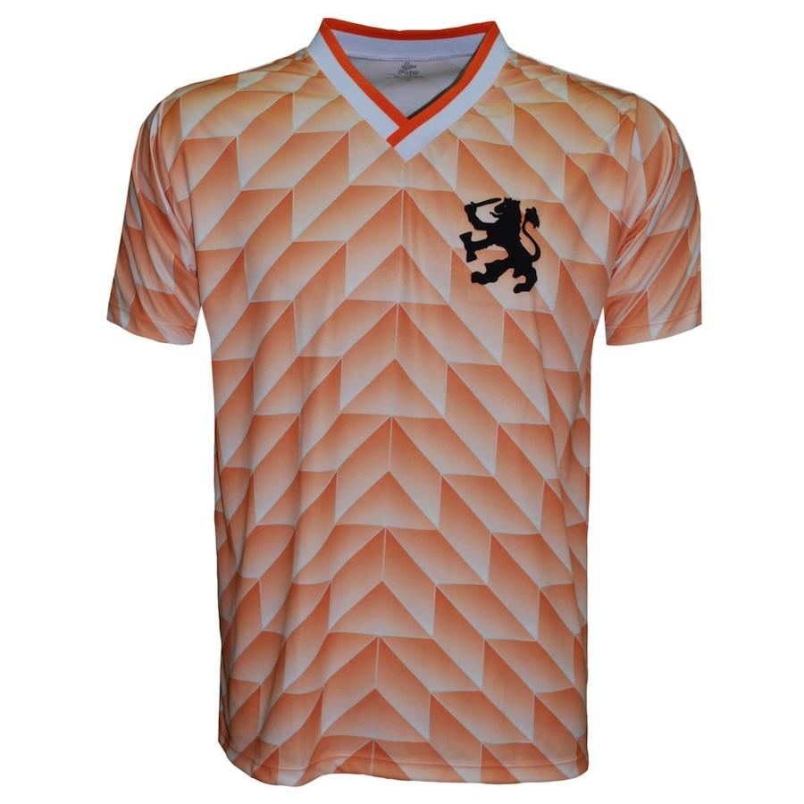 Camiseta da Holanda Liga Retrô 1988 Poliéster Fit - Masculina 6a18de08b68e6