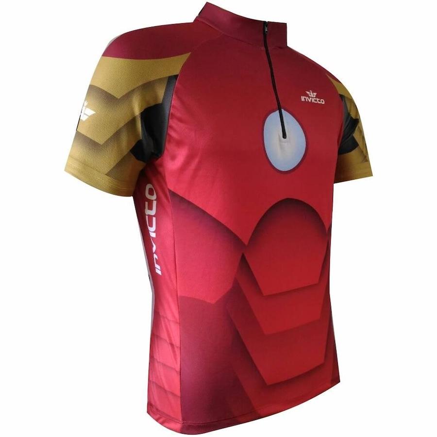 Camisa de Ciclismo Invicto Homem de Ferro - Infantil d6cc9201d3040