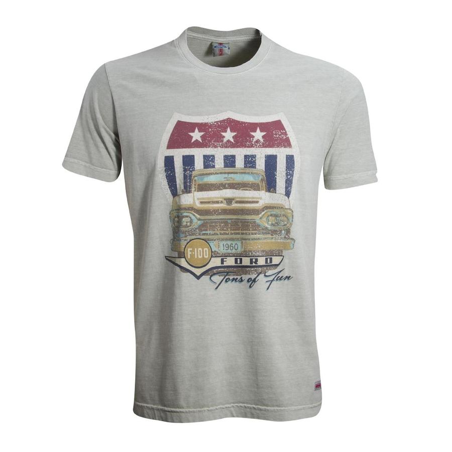 Camiseta Liga Retrô Premium Ford F100 - Masculina ddb79a3250473