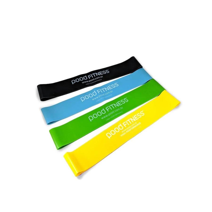 Mini Faixa Elástica Pood Resistance Loop Bands - 4 Faixas - Intensi Extra  Leve, Leve, Média e Difici b5520c68f0