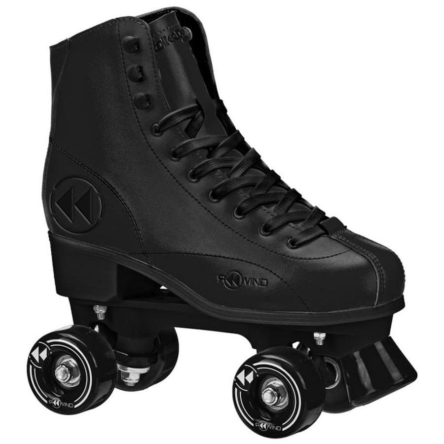5289c57e3f0 Patins Roller Derby Elite Reewind Black - Quad - ABEC 5 - Adulto