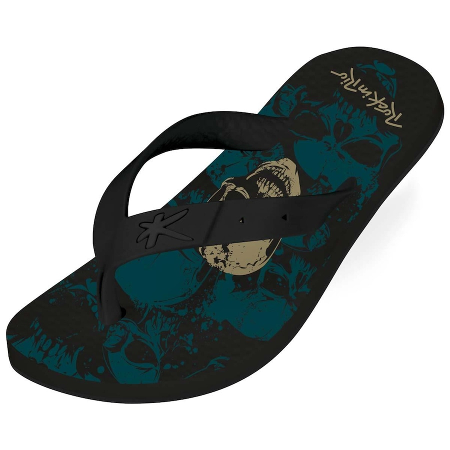 c142129af Chinelo Kenner Summer Rock In Rio Caveira - Masculino