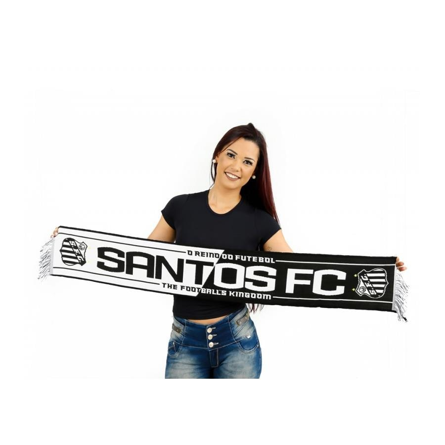 Cachecol do Santos Cachecol Mania 04 Estações - O Reino do Futebol 5a7fb1ce59b