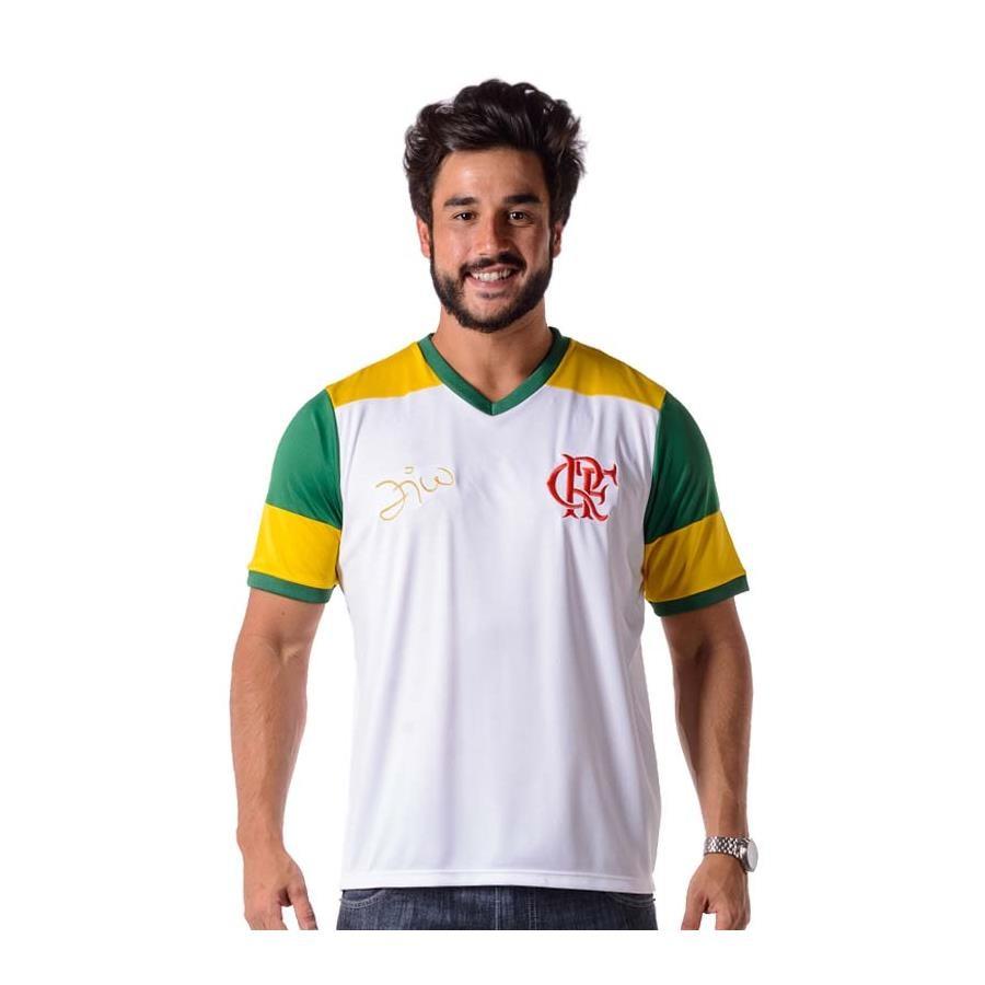 2d4d7d7763 Camiseta do Flamengo Retro Zico Brasil - Masculina