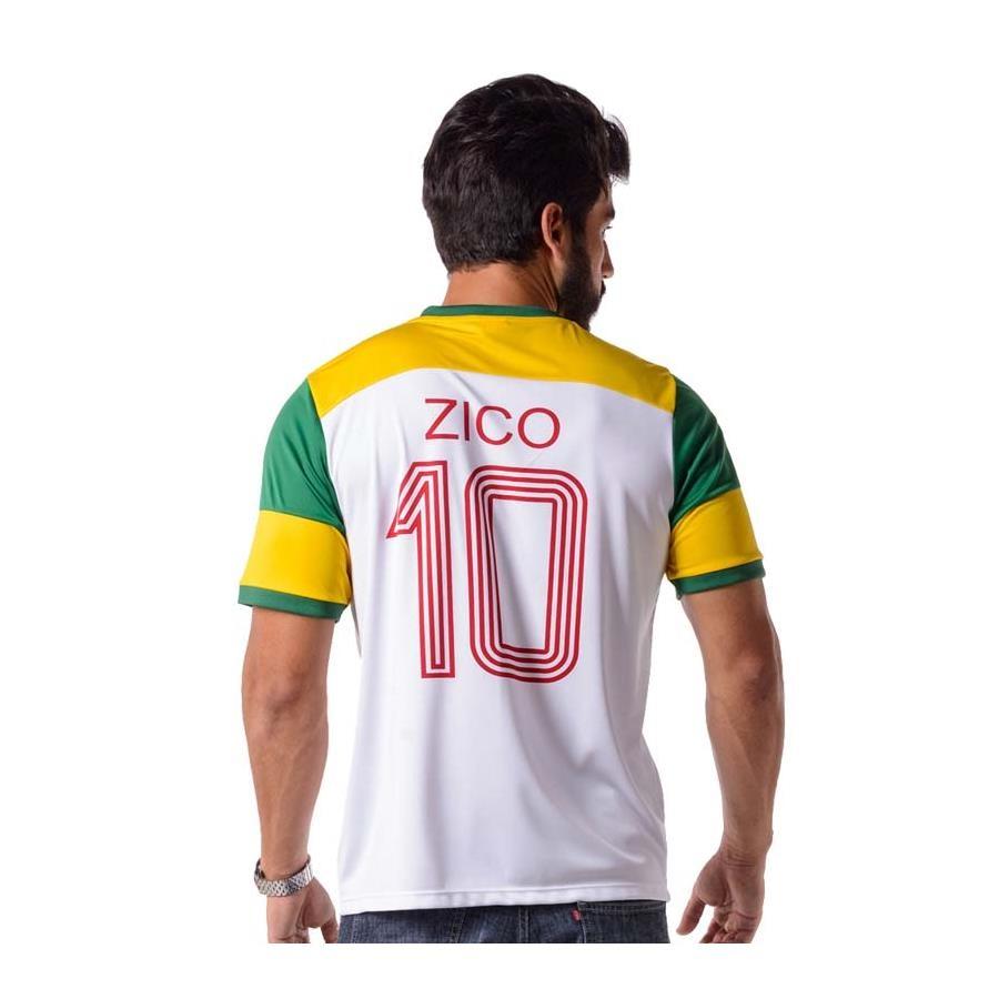 Camiseta do Flamengo Retro Zico Brasil - Masculina 547a707b1d1d5