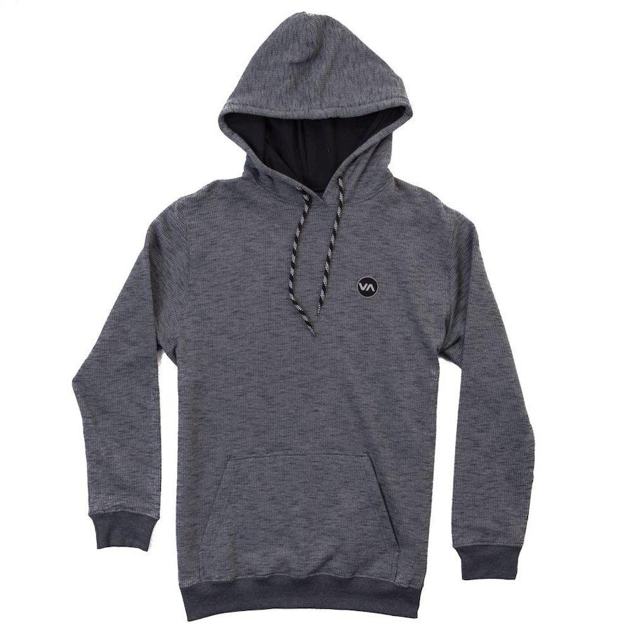 ebe90a42074b4 Blusa de Moletom com Capuz RVCA Fleece Canguru Reversal - Adulto