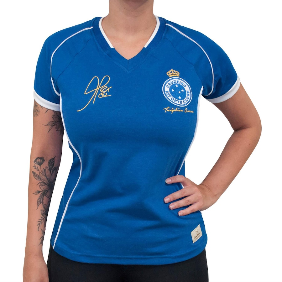 5cf3ec6429 Camiseta do Cruzeiro RetrôMania 2003 Alex Tríplice Coroa - Feminina