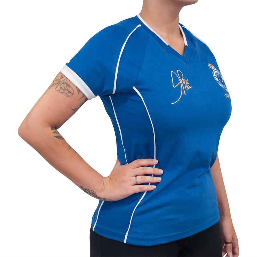 Camiseta do Cruzeiro RetrôMania 2003 Alex Tríplice Coroa - Feminina 8e1ede8dc81fe