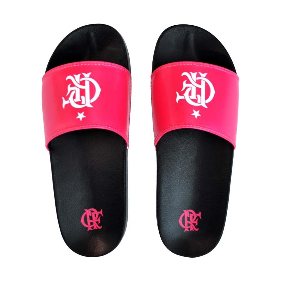 d6139f5b1c85c Chinelo do Flamengo Fla Sandals Slide Outubro Rosa - Feminina