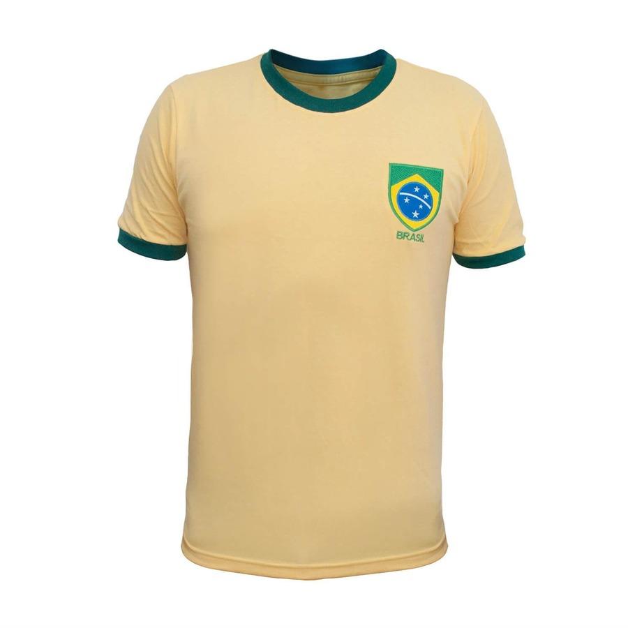 0a131fb87abe1 Camiseta do Brasil RetrôMania Gola Careca Masculina
