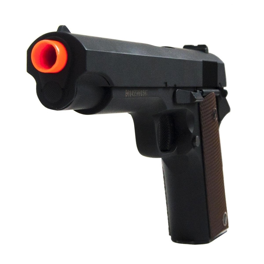 fa146aed6 Pistola de Airsoft ALK Colt 1911 CM123 Elétrica Full Metal Bivolt 210 FPS