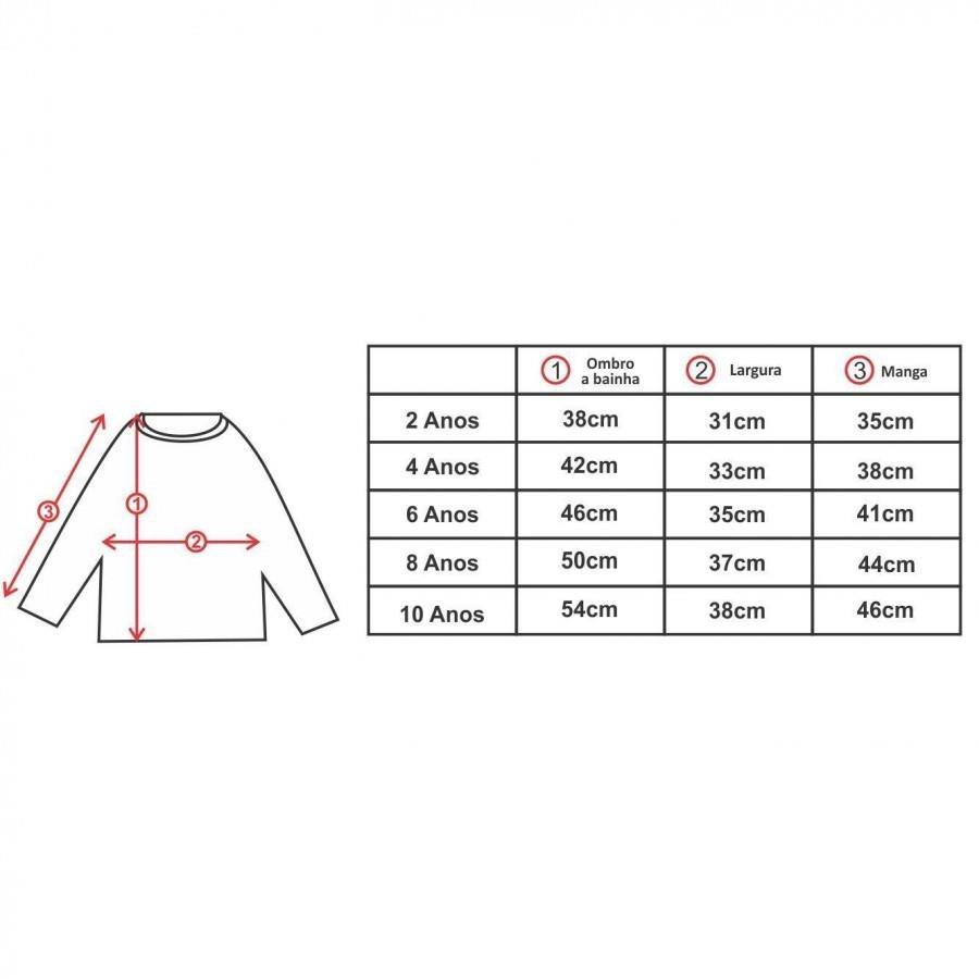 06c0c5697 Camiseta Manga Longa Comfy Diamante - Infantil