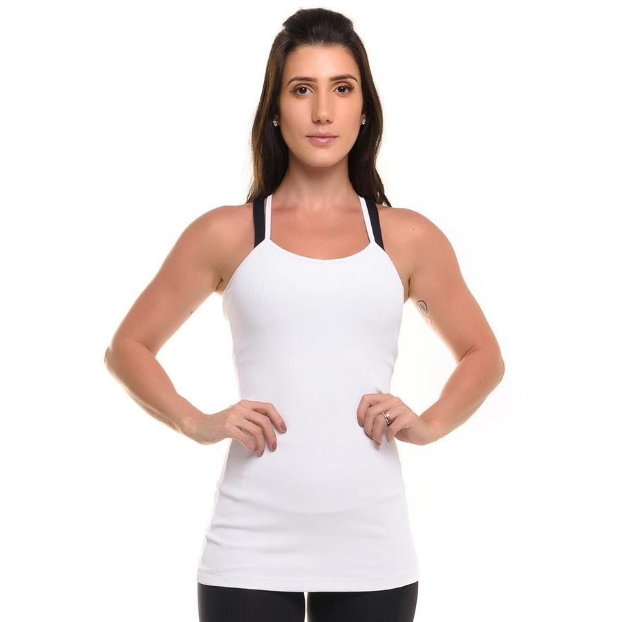 c6a60a71bf Camiseta Regata Canelada Sandy Fitness Stripes com Proteção Solar UV50+ -  Feminina