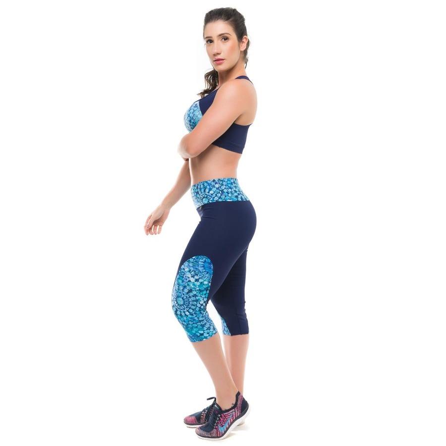 bd3bb64d8 Conjunto Top e Calça com Proteção Solar UV50+ Sandy Fitness Essential -  Feminino