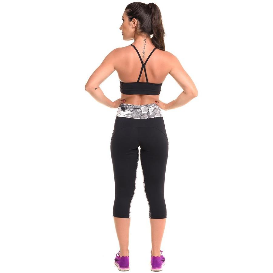 c2a288df0 Conjunto Sandy Fitness Special Jump com Proteção Solar UV50+  Top e Calça  Corsário - Feminino