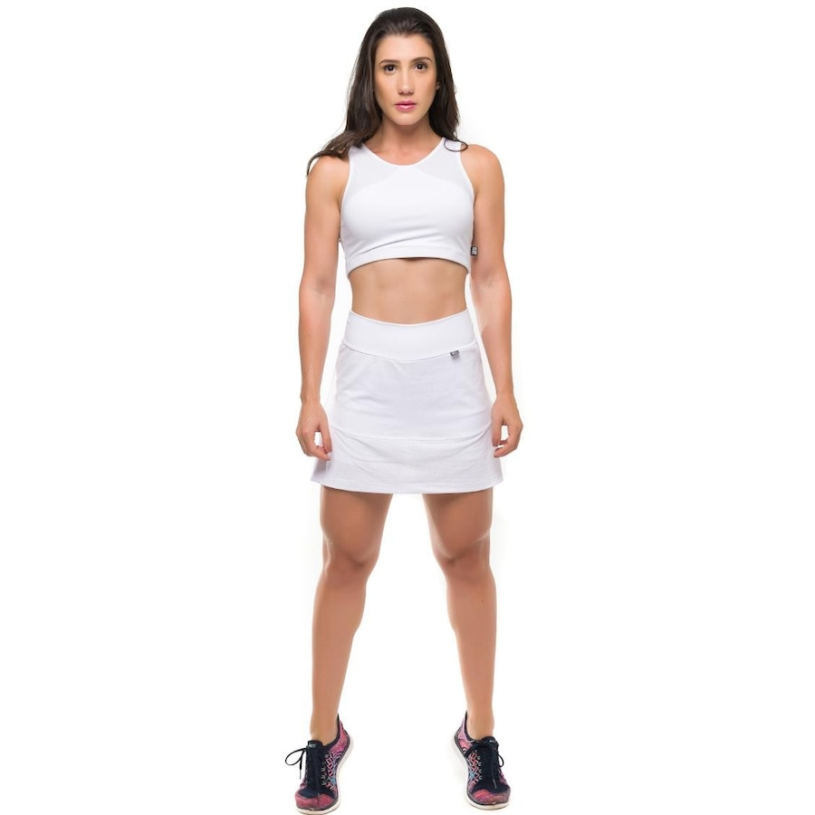 f2c886b91 Conjunto Sandy Fitness Energize Blusa Cropped + Short Saia com Proteção  Solar UV50+ - Feminino