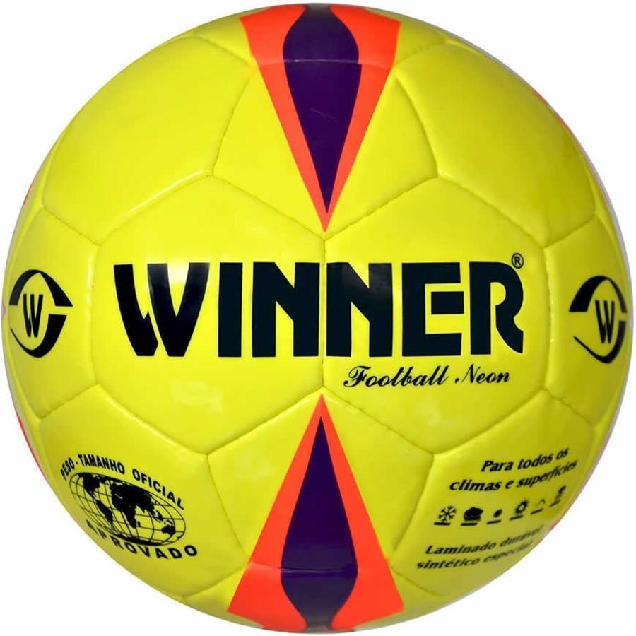 Bola de Futebol de Campo Winner Neon Oficial 5cf5f3d6071bb