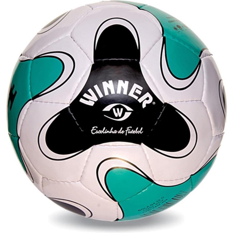 Bola de Futebol Escolinha Winner Nº5 Oficial - Branco Verde 5fbc2172edf92