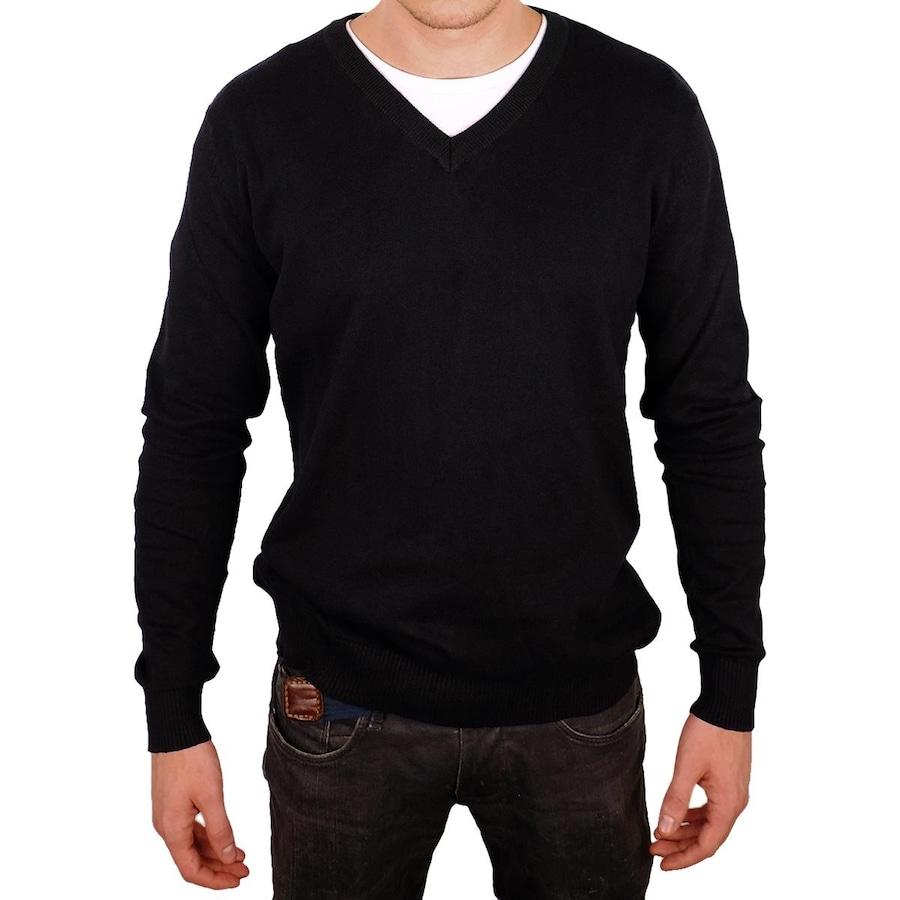 Blusa de Frio Balboa com Decote V - Masculina 9593ef6fcbd42