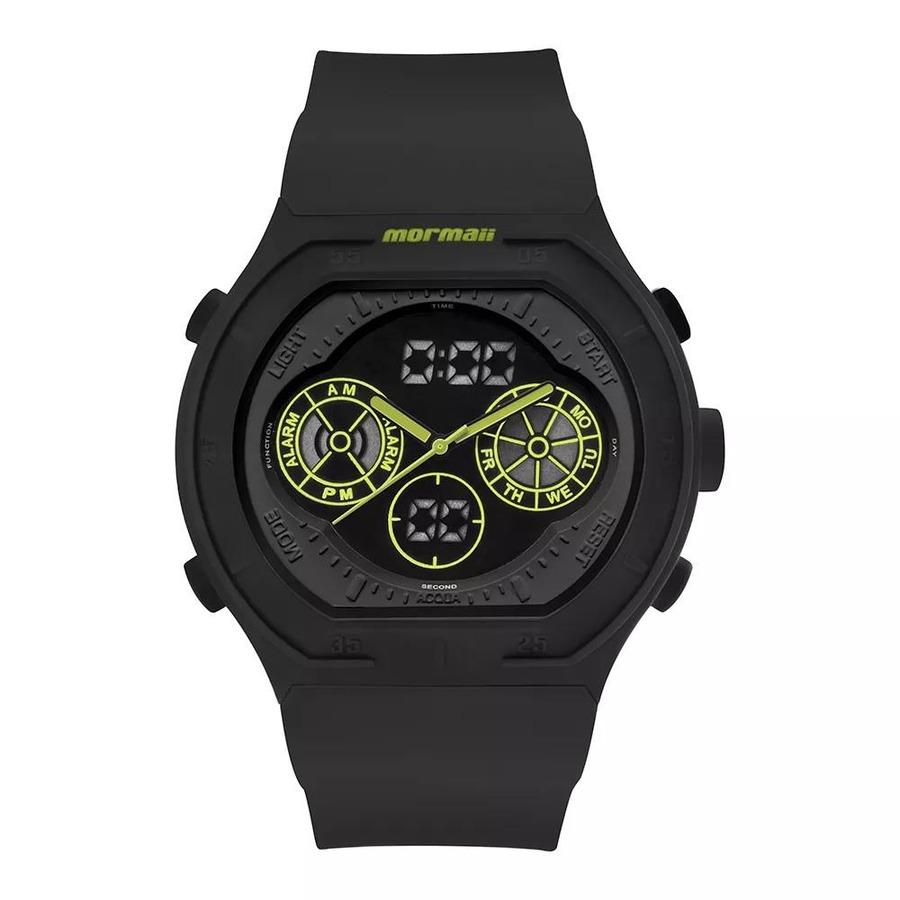 1356e4d4c2b4a Relógio Digital Analógico Mormaii Lumi MO160323BA8V - Masculino