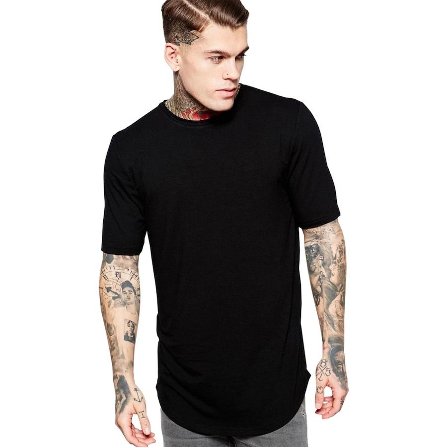 e1d0669a6 Camiseta Criativa Urbana Long Line Oversized Lisa I - Masculina