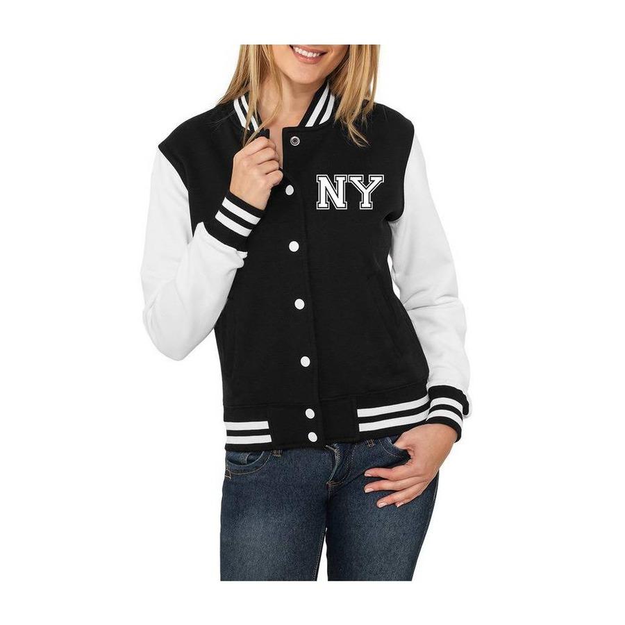 Jaqueta de Moletom Criativa Urbana College Americana NY New York - Feminina b8d3f10108e