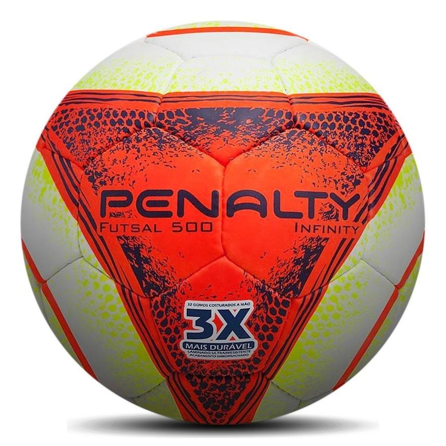 Bola de Futsal Penalty Infinity 500 VIII Costurada 2018 9d1f139c3fe71