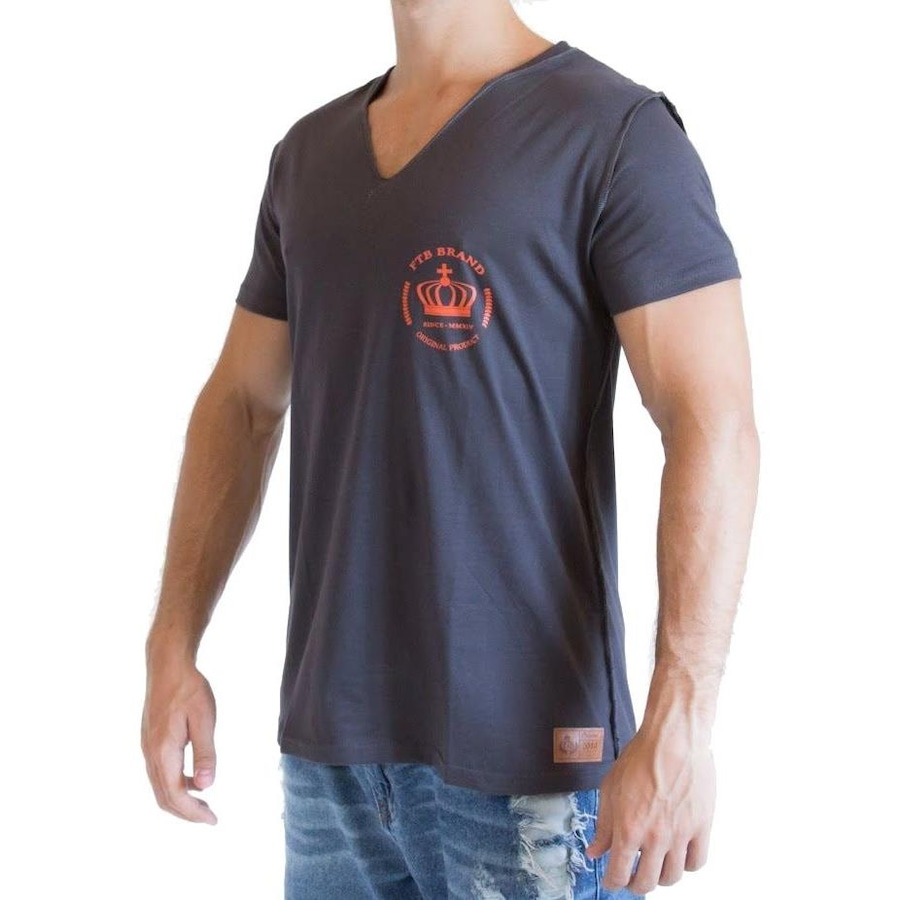 9d9d66374 Camiseta Fit Training Brasil Gola V - Masculina