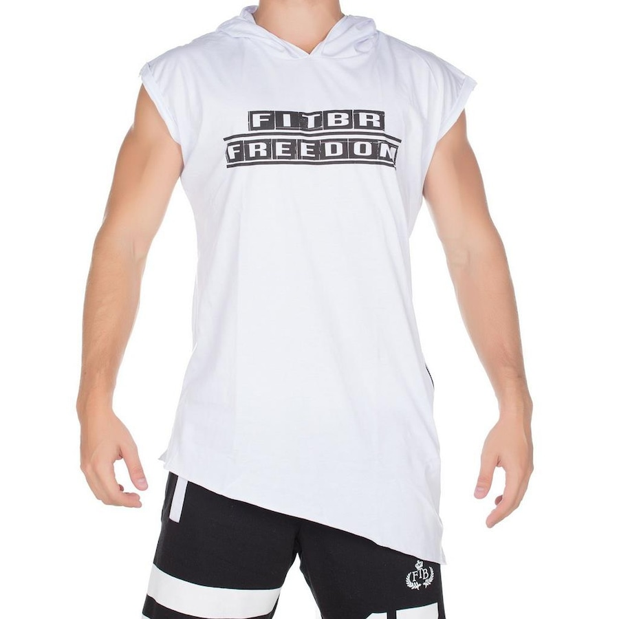 0021621ba8 Camiseta Regata Fit Training Brasil Long com Capuz - Masculina