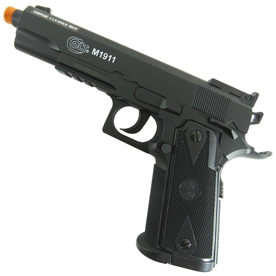 7cf48cf66 Pistola de Airsoft CyberGun Colt 1911 424 fPS à Gás CO2 - 6mm