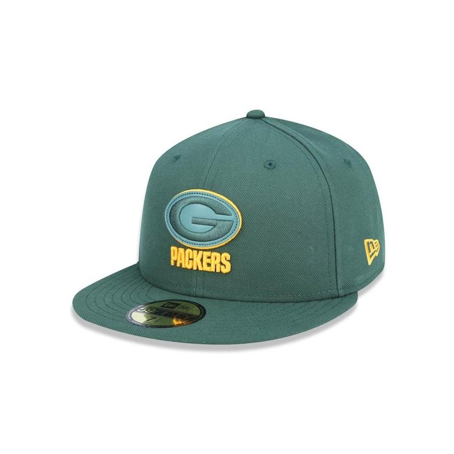 Boné Aba Reta New Era 5950 NFL Green Bay Packers 42157 - Fechado - Adulto 920e035505d