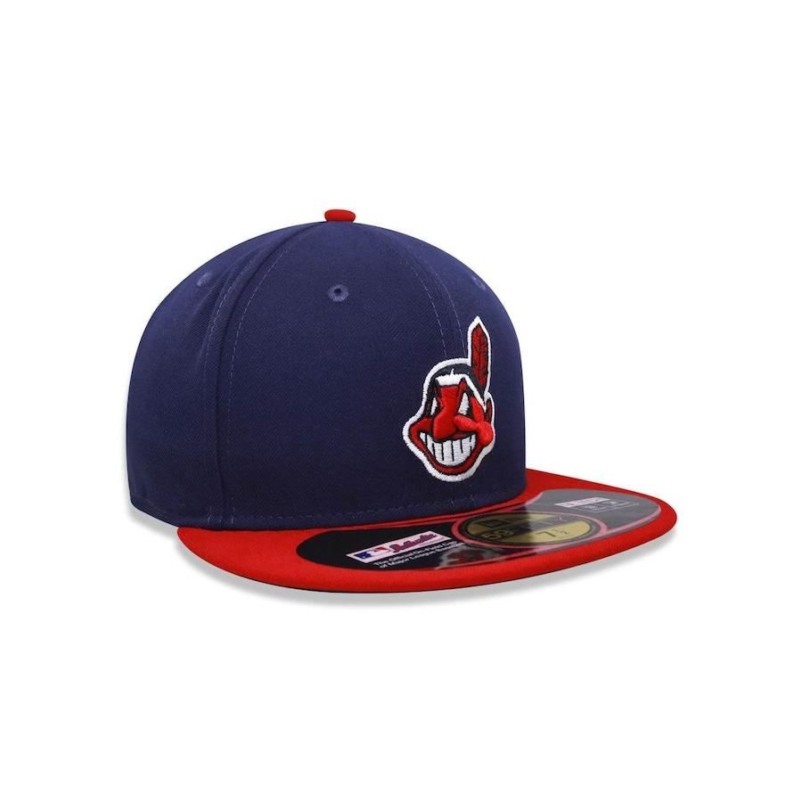 Boné Aba Reta New Era 5950 MLB Cleveland Indians 17682 - Fechado - Adulto 057518231f4