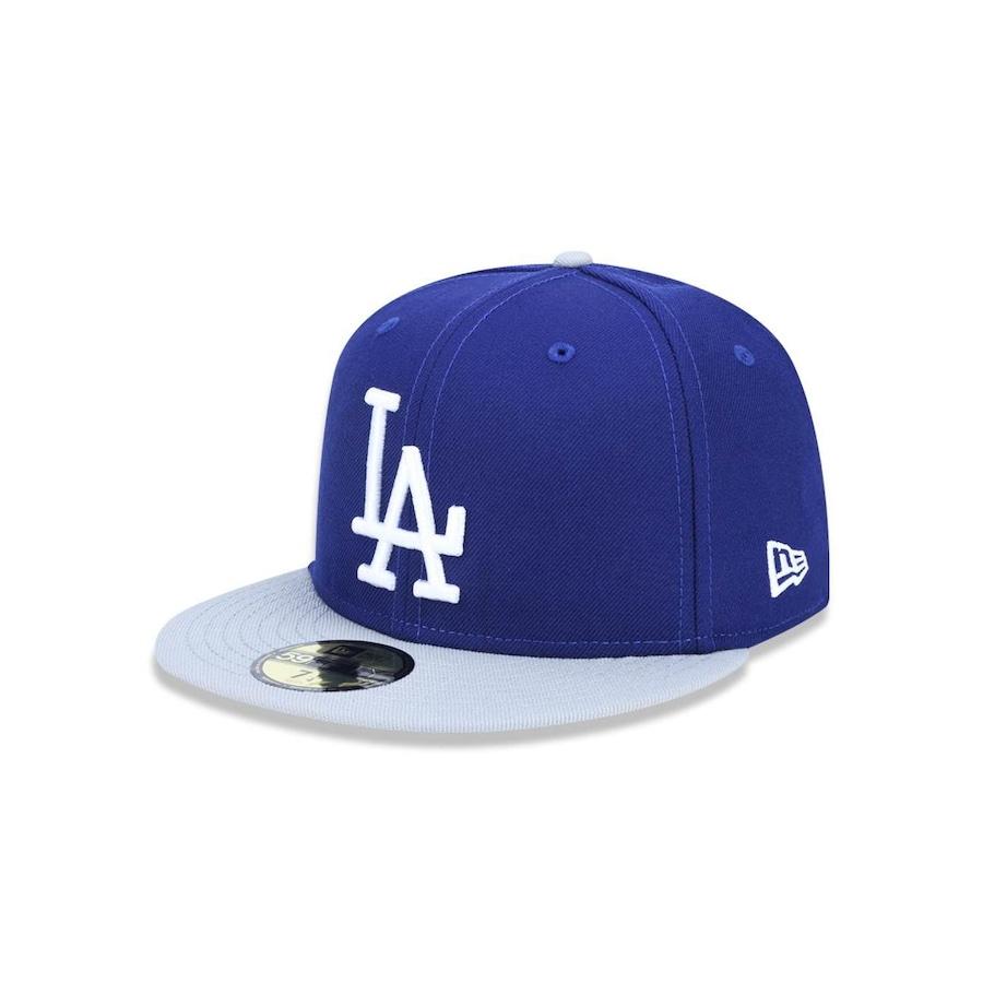 Boné Aba Reta New Era 5950 MLB Los Angeles Dodgers 42475 - Fechado - Adulto 836edf8a955