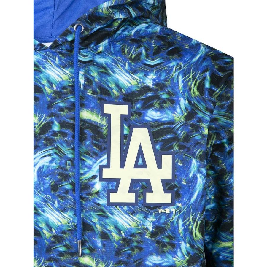 7641e5d7c Blusão de Moletom com Capuz New Era MLB Los Angeles Dodgers Camuflado  Canguru 41581 - Masculino