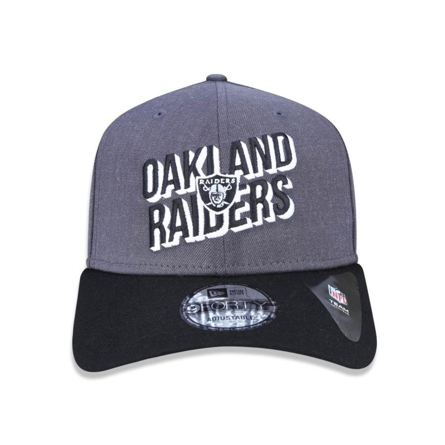 Boné Aba Curva New Era 940 Oakland Raiders NFL - 42107 - Snapback - Adulto 17dfd80eed855