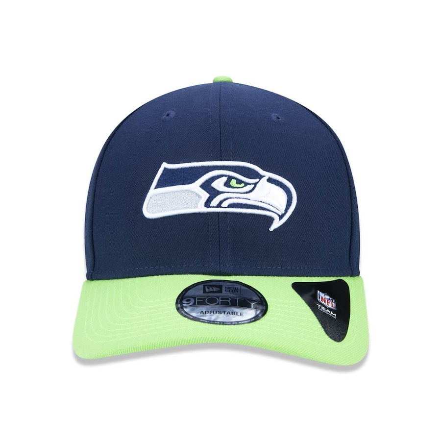 Boné Aba Curva New Era 940 Seattle Seahawks NFL - 34645 - Snapback - Adulto e4453296d8f