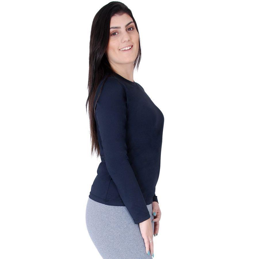 Camiseta Manga Longa Roupas Térmicas Proteção Solar UV 50+ Permanente  Térmica Respirável - Feminina d18c9e875bb82