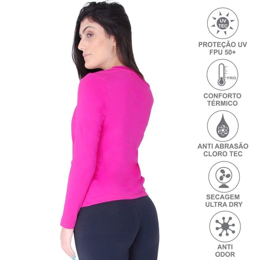e6f924c2b ... Camiseta Manga Longa Roupas Térmicas com Proteção Solar UV 50+ -  Feminina. Imagem ampliada ...