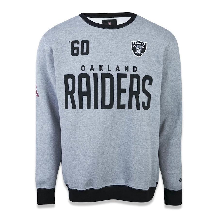 6f392caf56 Blusão de Moletom New Era NFL Oakland Raider 41559 - Masculino