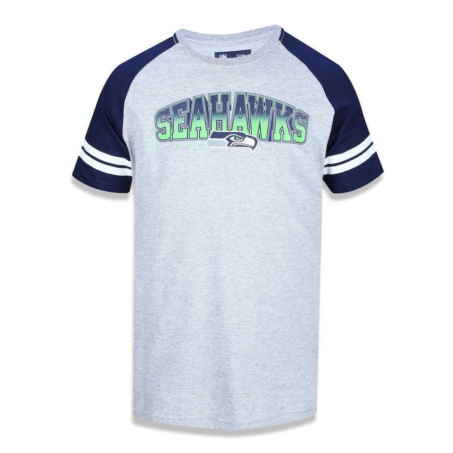 c522db73e9 Camiseta Manga Raglan New Era NFL Seattle Seahawks 39568 - Masculina